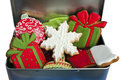 Iced Christmas Cookies. Royalty Free Stock Photography