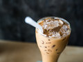 Iced coffee with copyspace composition part of Royalty Free Stock Image
