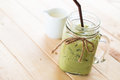 iced matcha latte Royalty Free Stock Photo