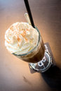 Iced mocha coffee cup of with whipping cream Stock Images