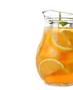 Iced tea with lemon isolated on white background Royalty Free Stock Photo