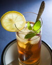 Iced Tea with Mint and Lemon Royalty Free Stock Photo