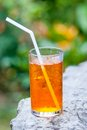 Iced tea tall glass of cold Royalty Free Stock Images