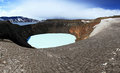 Iceland askja and viti craters highland area in Royalty Free Stock Images