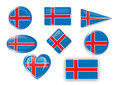 Iceland flag for different use by designers and printers Stock Image