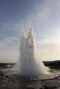 Iceland geyser erupting in icelandic national park Stock Image