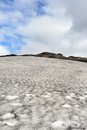 Iceland lava ash in snow volcanic surface Stock Photos