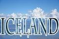 Iceland lettering