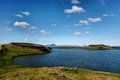 Iceland mývatn is a shallow eutrophic lake situated in an area of active volcanism in the north of not far from krafla volcano Royalty Free Stock Photo