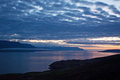 Iceland, Northern Europe, lake, Myvatn, sunset, nature, green, landscape, summer, climate change Royalty Free Stock Photo