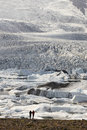 Iceland southeast area fjallsjokull glacier with tourits icelandic landscape and icebergs Royalty Free Stock Photo