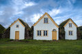 Iceland traditional turf houses in Royalty Free Stock Photo
