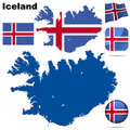 Iceland vector set. Stock Images