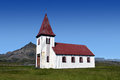 Icelandic church at Snaefellsnes peninsula Royalty Free Stock Photo