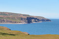 Icelandic coast landscape scenic coastal view at south iceland Royalty Free Stock Photo