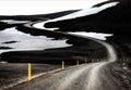 Icelandic f road mountain modrudalsfjallgardar central iceland Royalty Free Stock Photo