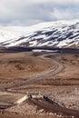 Icelandic f road mountain road modrudalsfjallgardar central iceland Royalty Free Stock Photos