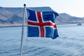 Icelandic flag Royalty Free Stock Photo