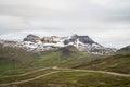 Icelandic gravel road through highlands Royalty Free Stock Photo
