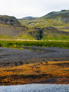 Icelandic landscape colored near skogar Royalty Free Stock Photos