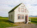 Icelandic traditional house in countryside Stock Images