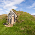 Icelandic turf houses Royalty Free Stock Photos