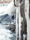 Icey waterfall in lincolnton nc froze over Stock Photography