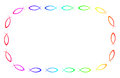 Ichthys frame a formed from the fish symbol for christianity in all the colors of rainbows Royalty Free Stock Image