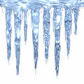 Icicle cluster Royalty Free Stock Photo