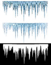 Icicles blue cold with an alpha channel Royalty Free Stock Photo