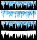 Icicles blue cold with an alpha channel Royalty Free Stock Image