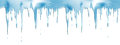 Icicles realistic seamless vector border Royalty Free Stock Photo