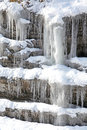 Icicles on rock at Low Tatras, Slovakia Stock Photos