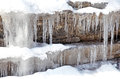Icicles on rock at Low Tatras, Slovakia Stock Image