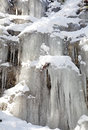 Icicles on rock at Low Tatras, Slovakia Stock Photography