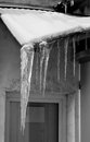 Icicles on the roof transparent Royalty Free Stock Photos