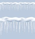 Icicles, seamless vector Royalty Free Stock Photo