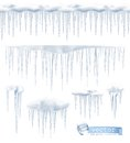 Icicles vector illustration Royalty Free Stock Photo