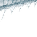 Icicles on white Royalty Free Stock Images