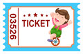 Icket circus illustration of isolated ticket Royalty Free Stock Photo
