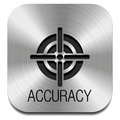 Icon accuracy on the metal plate Stock Image