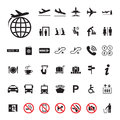 Icon Airport set Royalty Free Stock Photo