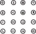 Icon apply to buttons, vectoc illustrator Royalty Free Stock Photo