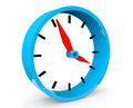 Icon blue abstract clock white background Stock Photo