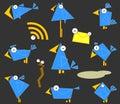 Icon Bluebirds Royalty Free Stock Photo