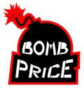 Icon bomb price creative design of Royalty Free Stock Photography