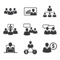 Icon business office Royalty Free Stock Photo