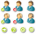 Icon business people Royalty Free Stock Photography