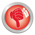 Icon button hand, gesture thumb down. Stock Image