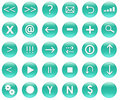 Icon Button Set For Navigation Royalty Free Stock Photo